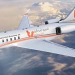 تسويق أون لاين بزنس جيت - نظرة على الجانب الأيسر للطائرة