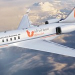تسويق أون لاين بزنس جيت - نظرة على الجانب الأيسر للطائرة مع تغيير الخطوط الانسيابية