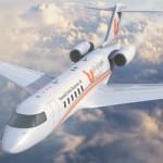 تسويق أون لاين بزنس جيت - نظرة من الأمام على الطائرة